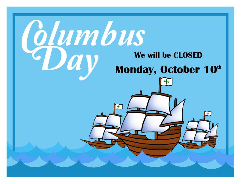 CLOSED for Columbus Day | Wayne Public Library